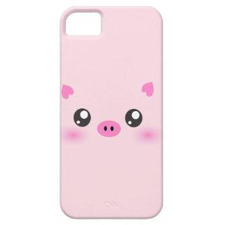 Cara linda del cerdo - minimalism del kawaii iPhone 5 cobertura
