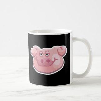 cara linda del cerdo taza básica blanca
