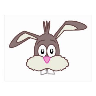 Cara linda del conejo de conejito tarjetas postales