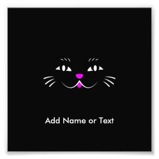 Cara linda del gato del dibujo animado fotos