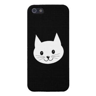 Cara linda del gato iPhone 5 fundas