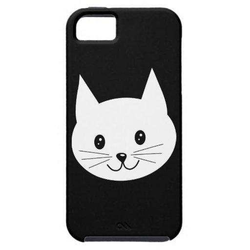 Cara linda del gato iPhone 5 Case-Mate protectores