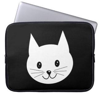 Cara linda del gato manga portátil