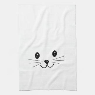 Cara linda del gato toallas