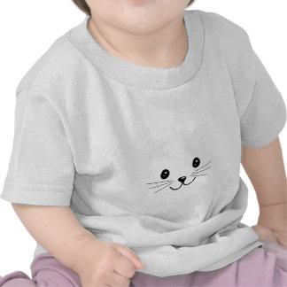 Cara linda del gato camisetas