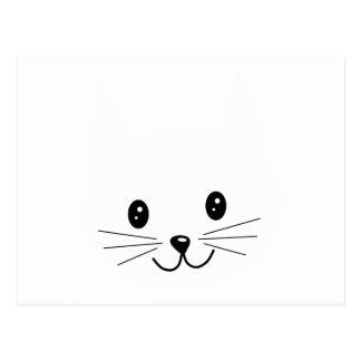 Cara linda del gato postal