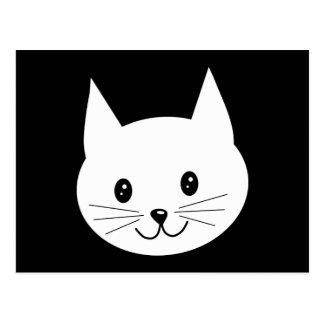 Cara linda del gato tarjetas postales