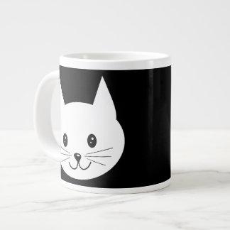 Cara linda del gato taza grande