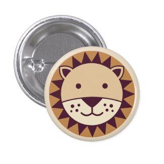 Cara linda del león pin redondo de 1 pulgada