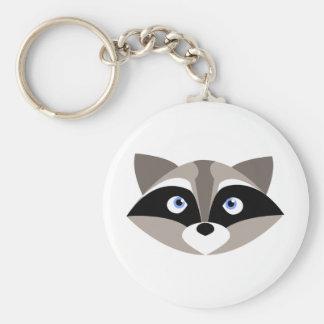 Cara linda del mapache llavero personalizado