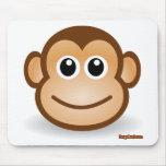 Cara linda del mono alfombrillas de raton