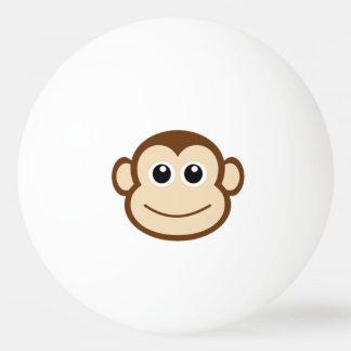Cara linda del mono del bebé pelota de tenis de mesa