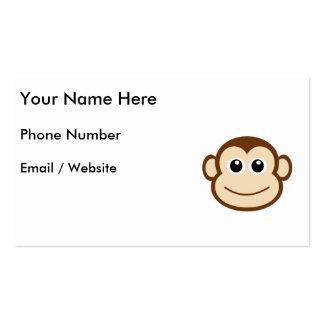 Cara linda del mono del bebé tarjeta de visita