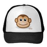 Cara linda del mono gorras