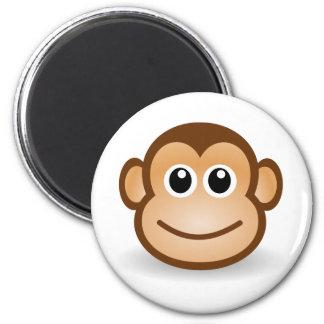Cara linda del mono imán para frigorífico