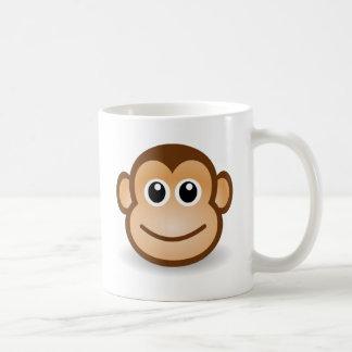 Cara linda del mono taza