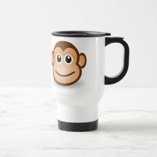 Cara linda del mono taza térmica