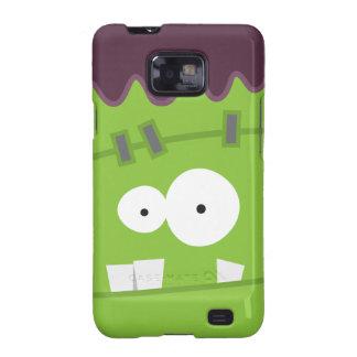 Cara linda del monstruo de Halloween Frankenstein Samsung Galaxy SII Carcasas