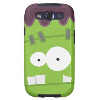 Cara linda del monstruo de Halloween Frankenstein Samsung Galaxy SIII Funda