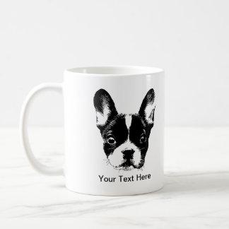 Cara linda del perro del dogo francés taza clásica