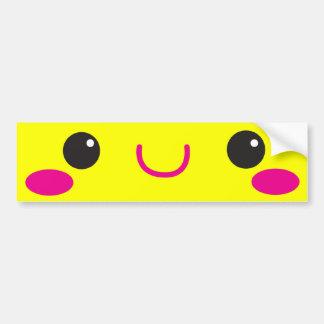 ¡Cara linda estupenda del cutie de Kawaii del anim Pegatina Para Auto