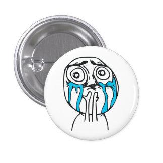Cara linda Meme de la rabia de la sobrecarga del C Pin Redondo 2,5 Cm