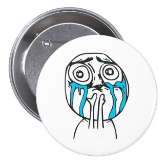 Cara linda Meme de la rabia de la sobrecarga del Pin Redondo De 3 Pulgadas