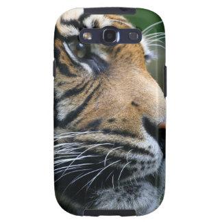 Cara magnífica del tigre de Bengala Galaxy SIII Carcasas