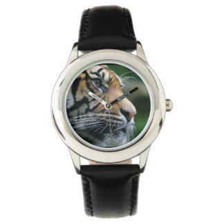 Cara magnífica del tigre de Bengala Relojes De Pulsera