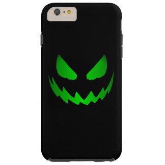 Cara malvada Halloween de la Jack-O-Linterna Funda Para iPhone 6 Plus Tough