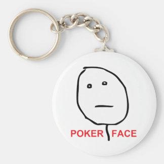 Cara Meme de la rabia de la cara de póker Llaveros Personalizados