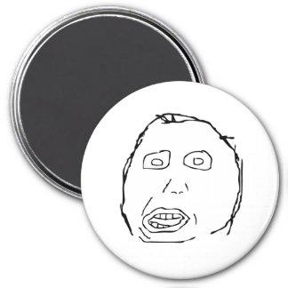 Cara Meme de la rabia del idiota de Herp Derp Imán De Frigorífico