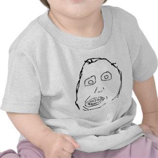 Cara Meme de la rabia del idiota de Herp Derp Camiseta