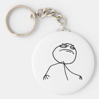 Cara Meme de la rabia del Yea de F Llaveros Personalizados