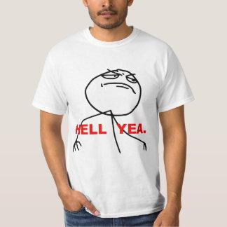Cara Meme de la rabia del Yea del infierno Playera