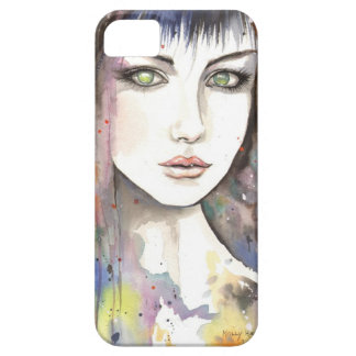 Cara moderna de la mujer de la fantasía dentro de iPhone 5 fundas