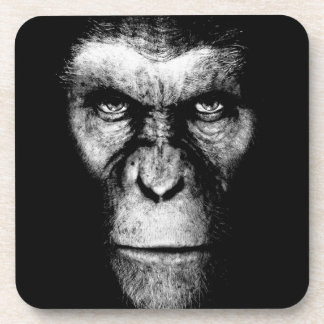 Cara monocromática del mono posavasos