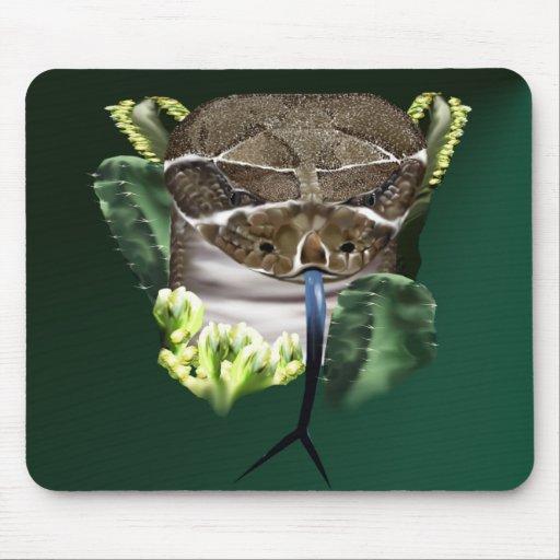 Cara Mousepad de la serpiente del traqueteo Alfombrillas De Ratón