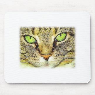 Cara Mousepad del gato de Tabby