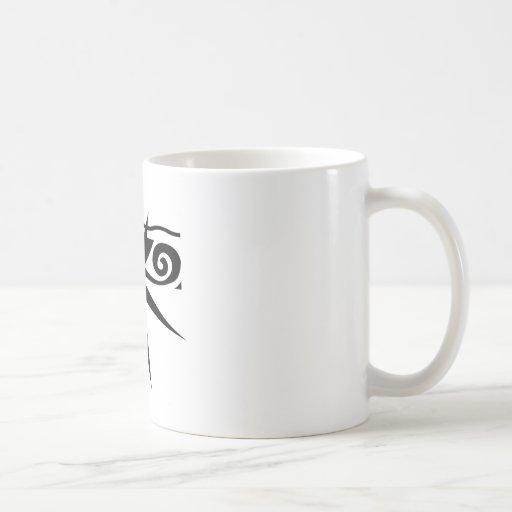 Cara negra abstracta taza de café