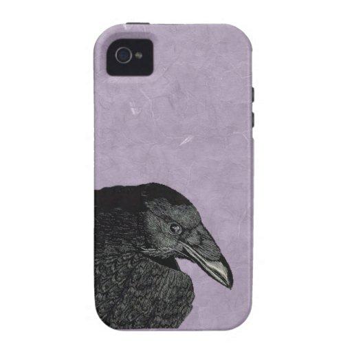 Cara negra fantasmagórica del cuervo del cuervo vibe iPhone 4 fundas