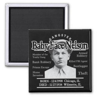 Cara Nelson del bebé del gángster Imanes Para Frigoríficos