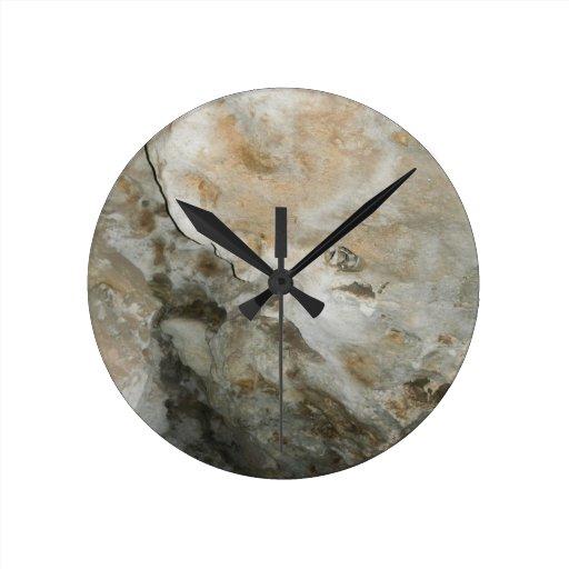 Cara New México Carslbad de la roca Reloj Redondo Mediano