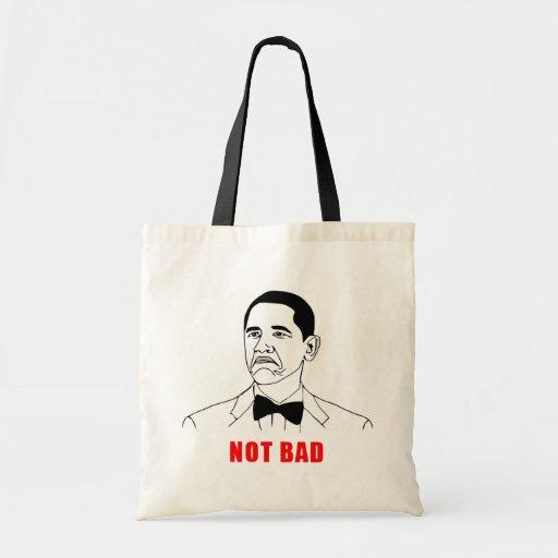 Cara no mala de la rabia del meme de Obama cómica Bolsa Lienzo