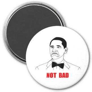 Cara no mala Meme de la rabia de Barack Obama Iman Para Frigorífico