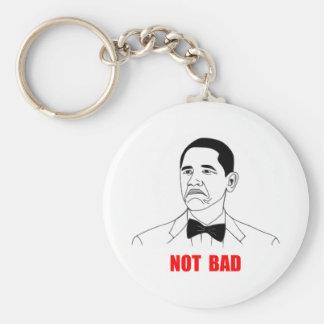 Cara no mala Meme de la rabia de Barack Obama Llavero Redondo Tipo Pin