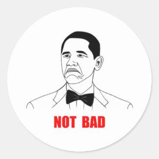 Cara no mala Meme de la rabia de Barack Obama Pegatina Redonda