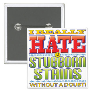 Cara obstinada del odio de las manchas pin