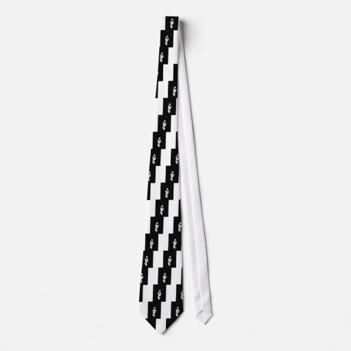 Cara oscura corbata personalizada