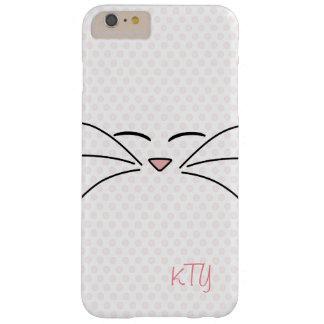 Cara personalizada del gatito funda barely there iPhone 6 plus